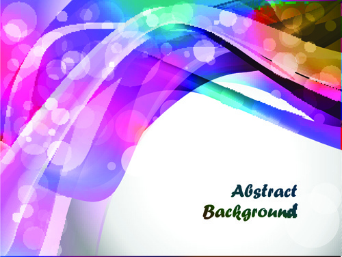 elements of abstract colorful wave vector background