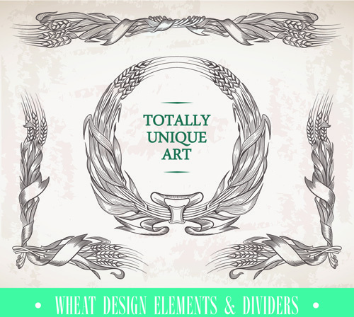 elements of baroque style frames and borders vector