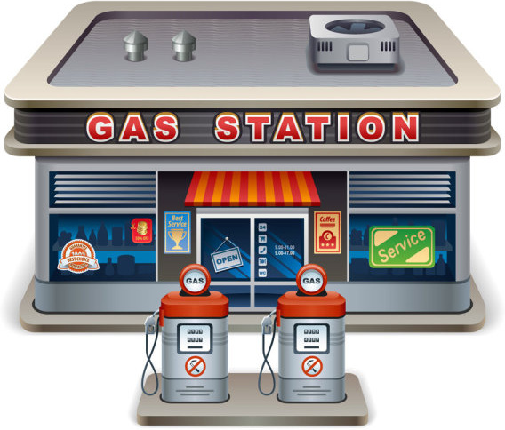 elements of cartoon gas station vector free vector in gas station clipart gas station clipart png