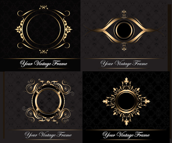 elements of classic decorative pattern background vector