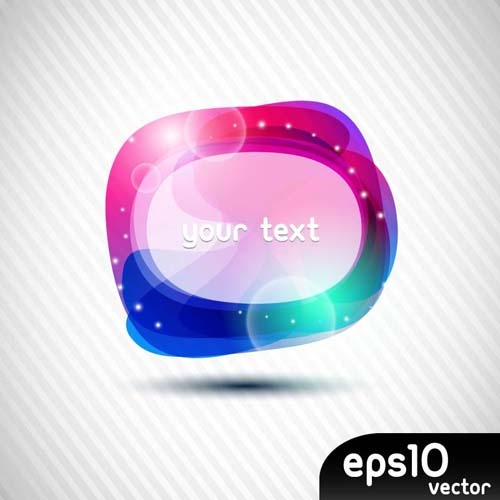 elements of colorful speech bubbles vector