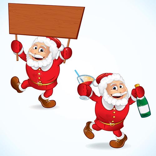 Funny santa sleigh clip art free vector download (221,372 ...