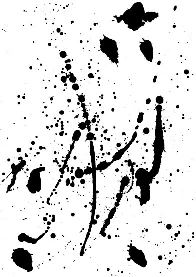 elements of ink splatters vector background