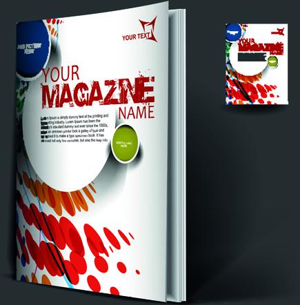 School magazine cover page design free vector download ...  School magazine...