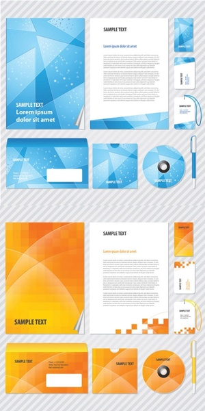 elements of the fashion business vi template vector