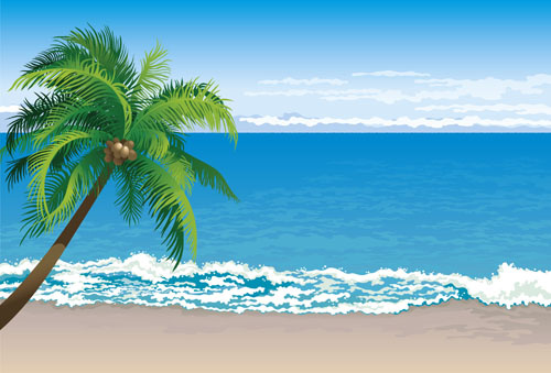 Tropical beach clipart free vector download (4,206 Free ...