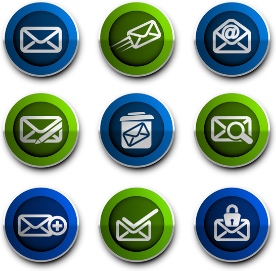 email style icons vector