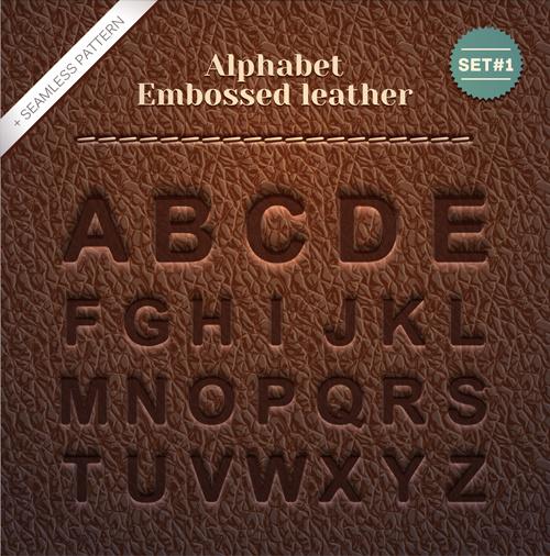 embossed_leather_alphabet_vector_540622 Vintage Alphabet Letter Templates Free on printable lower case, printable cursive,