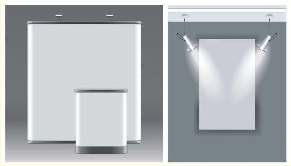 empty wall with illumination vector