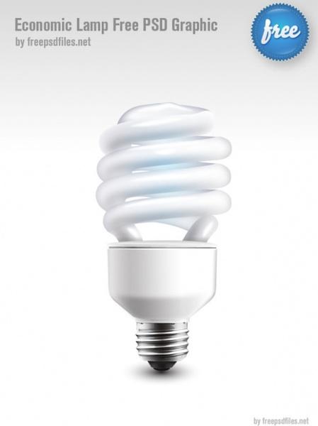 energysaving light bulbspsd layered