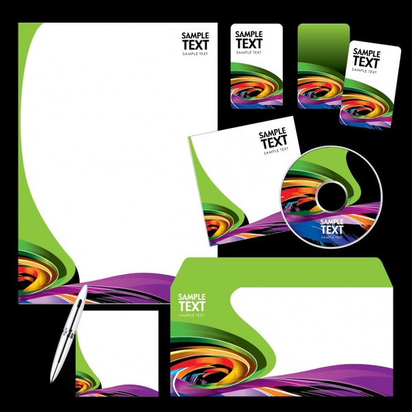 corporate identity templates colorful dynamic spiral decor