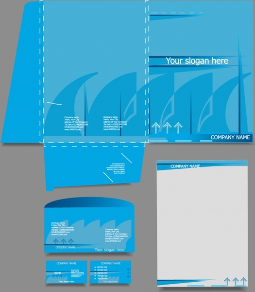 enterprise vi template vector business cards letterhead paper mold