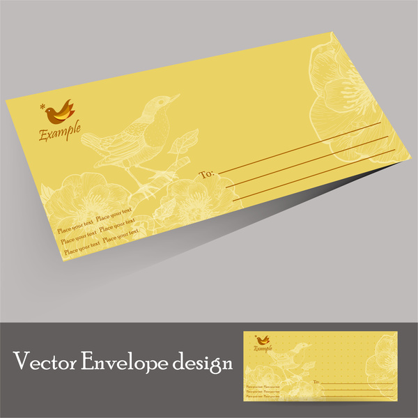 Envelope design templates Free vector in Adobe Illustrator ai ( .ai ...