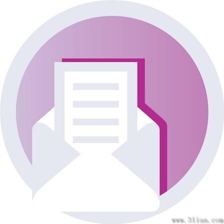 envelopes letterheads icons vector