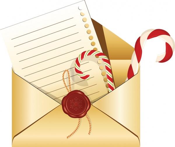 decorative background envelope sticks seals letter icons sketch