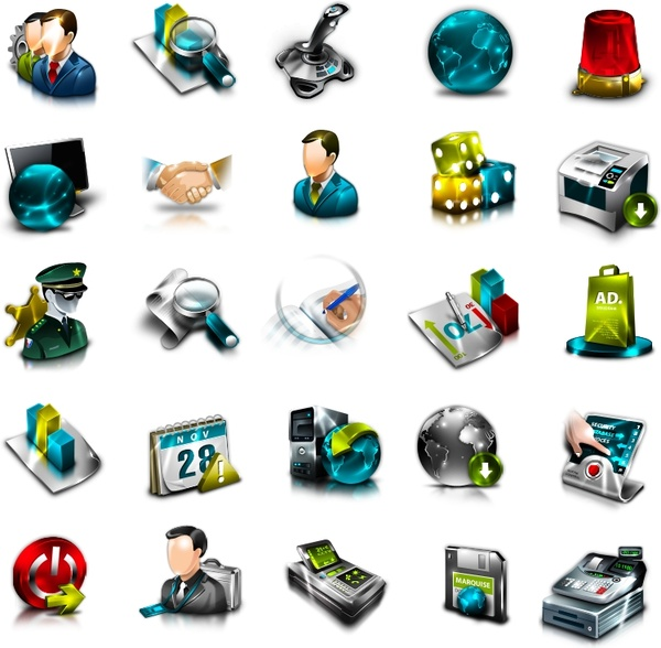 erp general icon set icons pack free icon in format for free