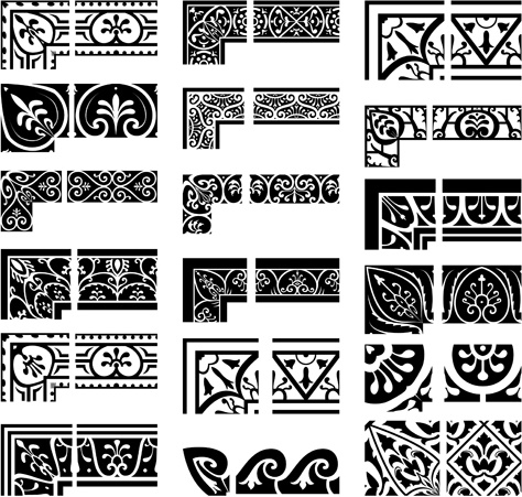 a658a37d0a71a Ethnic style border with corner vector Free vector in Adobe ...