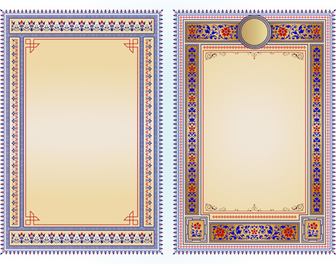 ethnic style frames vector