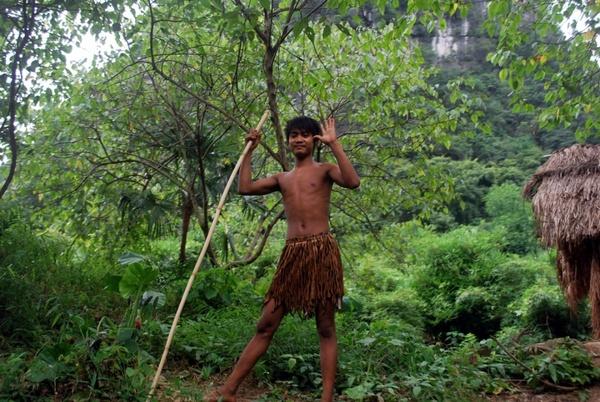 ethnic villager boy