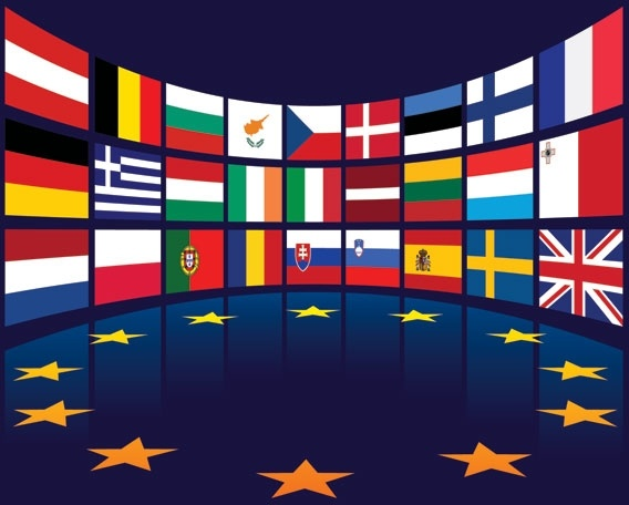 eu background theme 3d colorful design national flags
