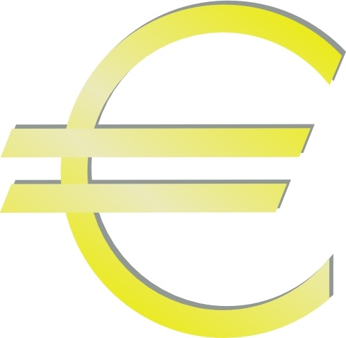 Euro Financial Symbol Clip Art Free Vector In Open Office Drawing
