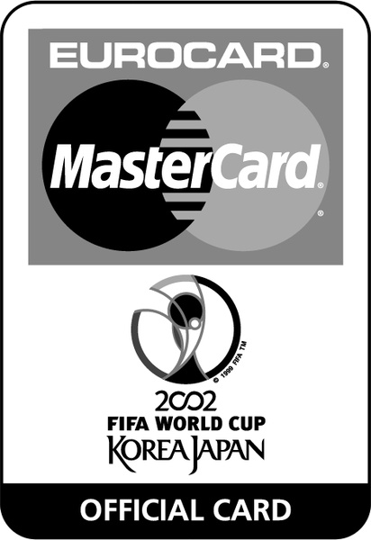 Eurocard mastercard 2002 fifa world cup 1 Free vector in