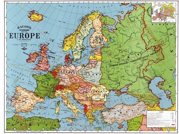 Decorative europe map vector | free download.
