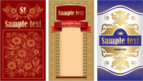 document decorative design elements elegant vintage decor