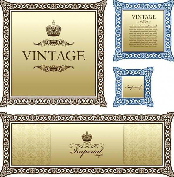 certificate border templates elegant vintage seamless decor