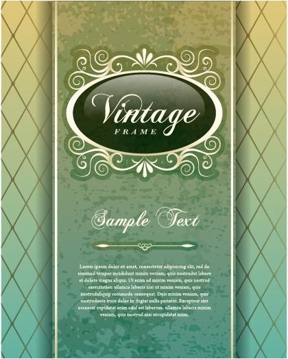 card cover template elegant vintage decor