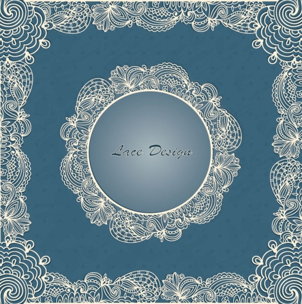 european lace pattern background 01 vector