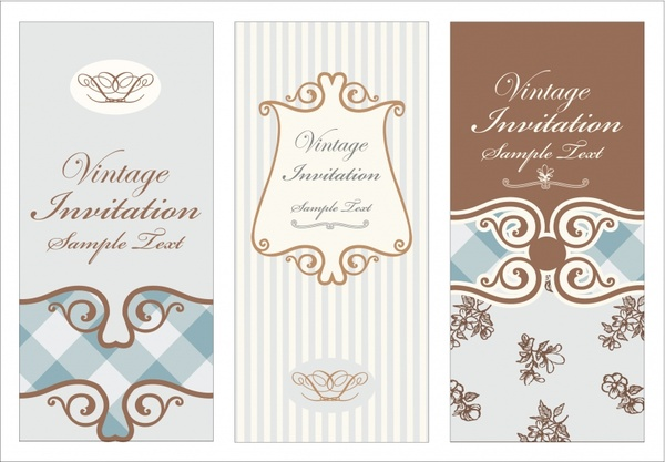 wedding card templates elegant decor vintage design