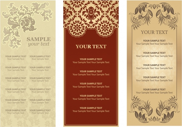 restaurant menu templates elegant colored classic decor