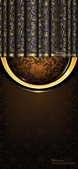 european retro pattern background vector