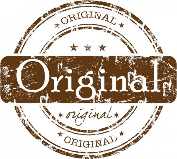 quality stamp template flat retro design