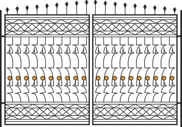 iron gate template european decor symmetric design