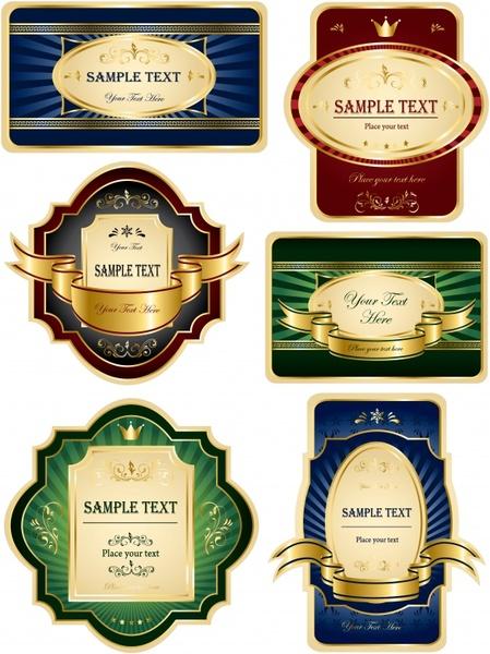 label templates modern elegant vertical horizontal design