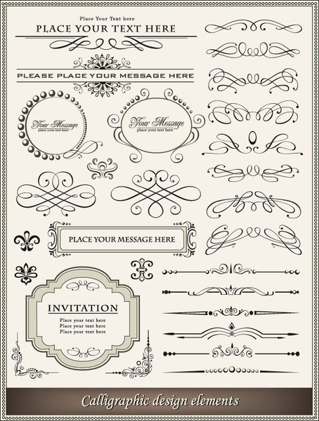 europeanstyle lace border 02 vector