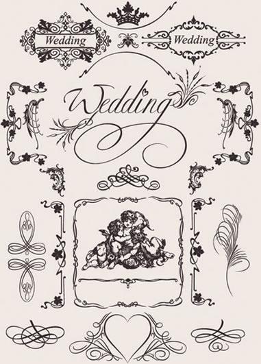 europeanstyle wedding pattern vector