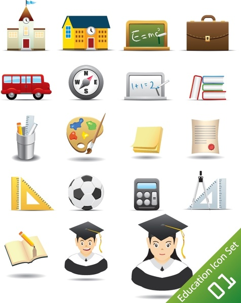 Everyday Office Supplies Icon Vector