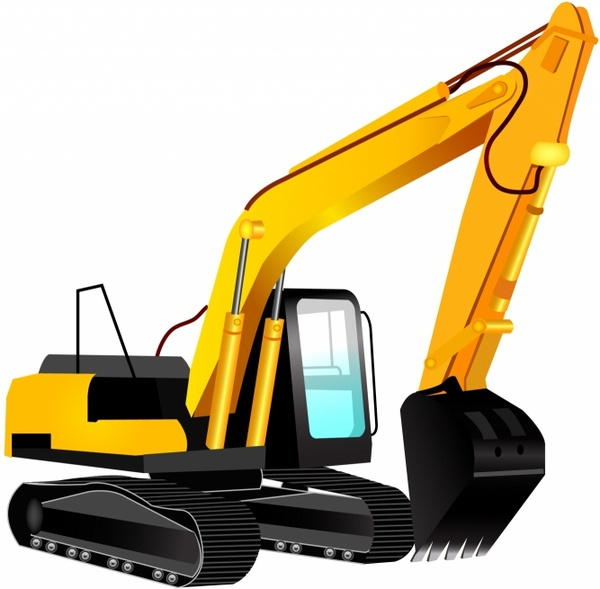 Excavator Free Vector In Adobe Illustrator Ai Ai