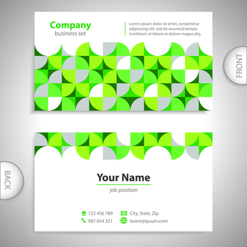 Excellent business cards front back template vector free vector in excellent business cards front back template vector colourmoves
