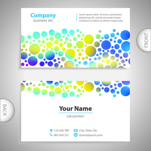 Excellent Business Cards Front Back Template Vector Free Vector In