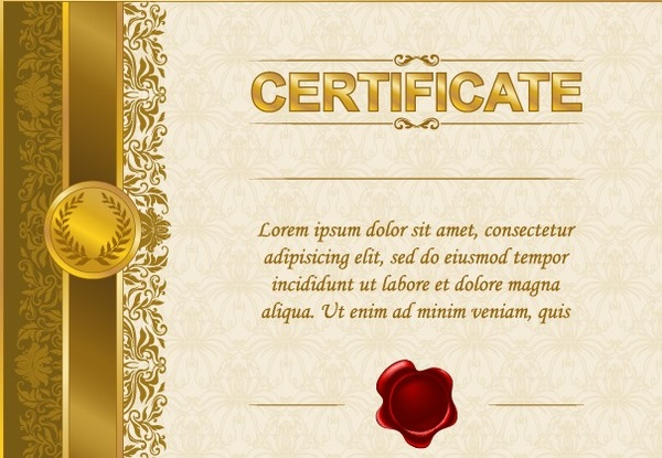 excellent certificate and diploma template design free vector in
