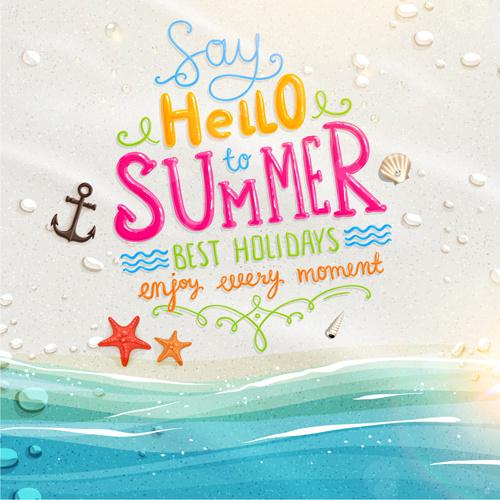 excellent summer holidays background vector