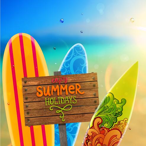 excellent summer holidays background vector