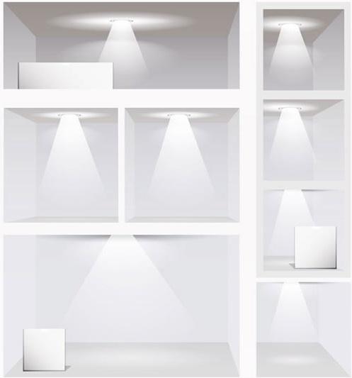 gallery light template modern bright 3d sketch