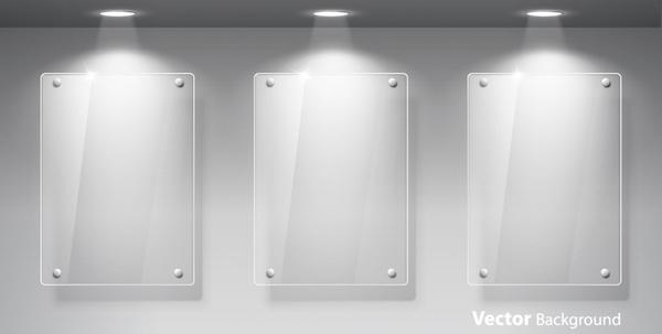 exhibition spotlights plexiglass window vector free vector in