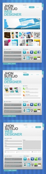 exquisite and practical web template 07 psd layered