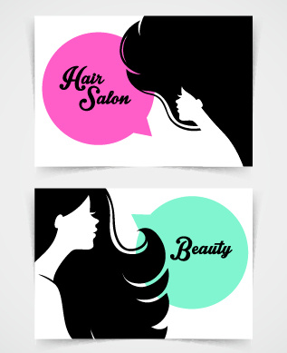 Exquisite Beauty Salon Business Cards Vector Free Vector In